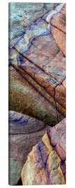 Lienzo  Colorful abstract lines in sandstone rocks - Judith Zimmerman