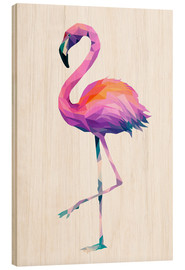 Cuadro de madera  Flamingo 2 - Miss Coopers Lounge