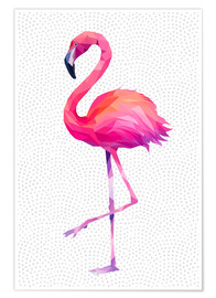 Póster  Flamingo 1 - Miss Coopers Lounge
