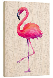Cuadro de madera  Flamingo 1 - Miss Coopers Lounge