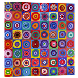David Newton - Square Circle 64 a Kandinsky