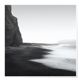 Póster  Black beach in Iceland - Philipp Dase