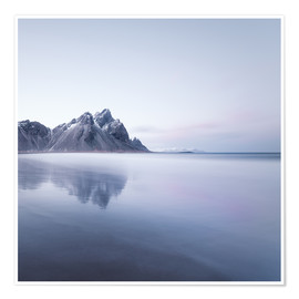Póster Vestrahorn in Iceland at sunset