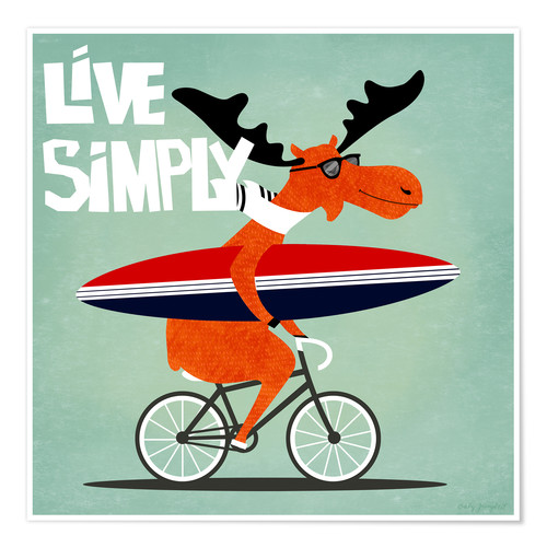 Póster Live simply