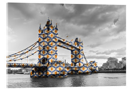 Cuadro de metacrilato  Tower Bridge Color Pop