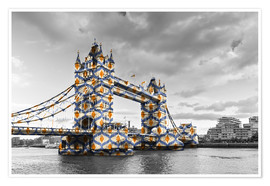 Póster  Tower Bridge Color Pop