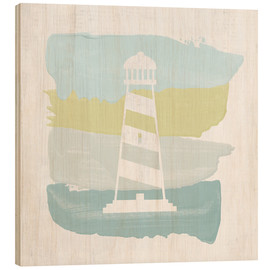 Cuadro de madera  Seaside Swatch Lighthouse - Moira Hershey
