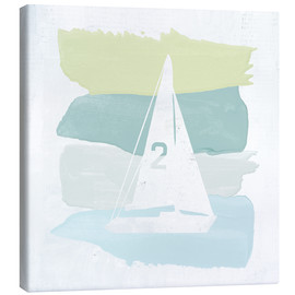 Lienzo  Seaside Swatch Sailboat - Moira Hershey