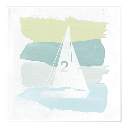 Póster Seaside Swatch Sailboat