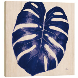 Cuadro de madera  Welcome to Paradise XIII Indigo - Janelle Penner