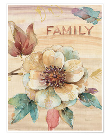 Póster Family Flower