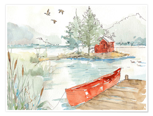 Póster Lakehouse II Red