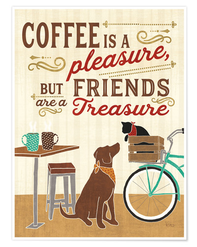 Póster Coffee and Friends II