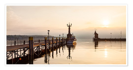 Póster  Morning mood in Constance on Lake Constance - Dieterich Fotografie