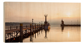 Cuadro de madera  Morning mood in Constance on Lake Constance - Dieterich Fotografie