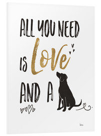 Cuadro de PVC  All you need is love and a dog (inglés) - Veronique Charron