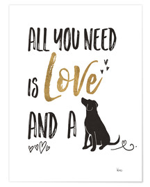 Póster  All you need is love and a dog (inglés) - Veronique Charron