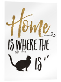 Cuadro de metacrilato  Home is where the cat is - Veronique Charron