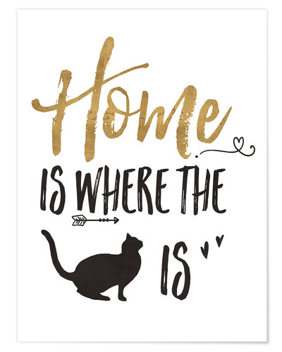 Póster Home is where the cat is