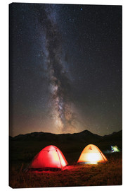 Lienzo  Shining tents under the Milky Way - Yuri Zvezdny