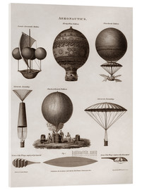 Cuadro de metacrilato  Illustration of early hot air balloon designs - John Parrot