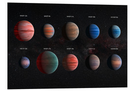 Cuadro de PVC  Exoplanets with different cloud textures