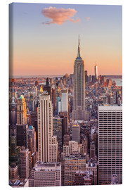 Lienzo  Manhattan skyline, New York skyline, Empire State Building, sunset, New York City, United States of - Neale Clarke