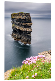 Cuadro de metacrilato  Downpatrick Head en frente de Grey Lake en Irlanda - Francesco Vaninetti