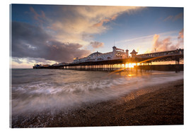 Cuadro de metacrilato  Brighton pier at sunset with dramatic sky - Lee Frost