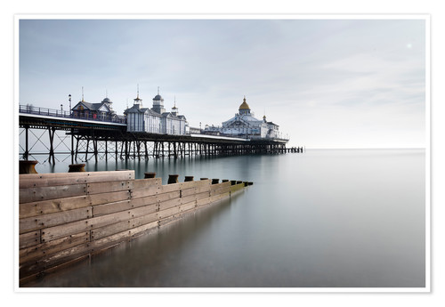 Póster Long exposure image of Eastbourne Pier, Eastbourne, East Sussex, England, United Kingdom, Europe