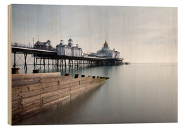 Cuadro de madera  Long exposure image of Eastbourne Pier, Eastbourne, East Sussex, England, United Kingdom, Europe - Lee Frost