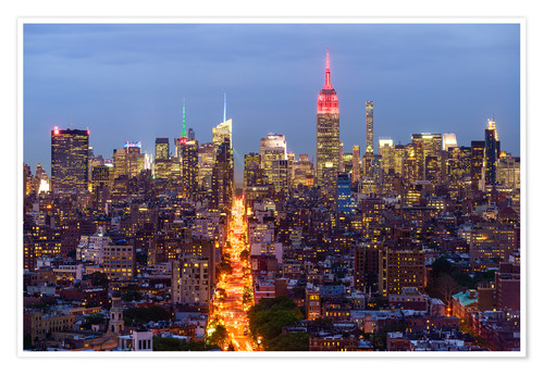 Póster Empire State Building and city skyline, Manhattan, New York City, United States of America, North Am