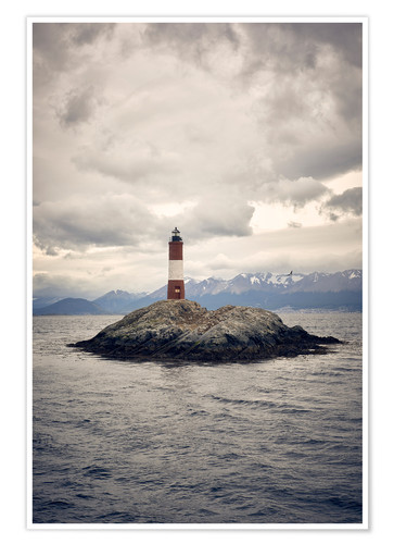 Póster Les Eclaireurs lighthouse, Tierra del Fuego, Argentina, South America