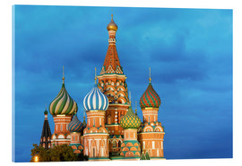 Miles Ertman - St. Basil's Cathedral lit up at night, UNESCO World Heritage Site, Moscow, Russia, Europe