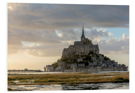 Cuadro de PVC  Sunset light, Mont-Saint-Michel - Francesco Vaninetti