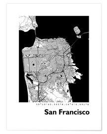 Póster  Mapa de la ciudad de San Francisco - 44spaces