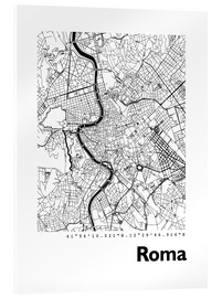 Cuadro de metacrilato  Mapa de Roma - 44spaces