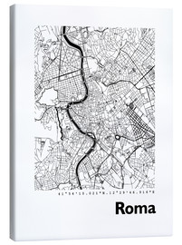 Lienzo  Mapa de Roma - 44spaces