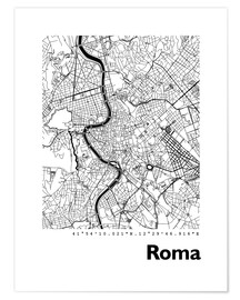 Póster  Mapa de Roma - 44spaces