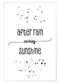 Póster TEXT ART After rain comes sunshine