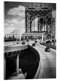 Cuadro de metacrilato  Historic New York - Triborough Bridge, Manhattan - Christian Müringer
