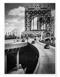 Póster Historic New York - Triborough Bridge, Manhattan