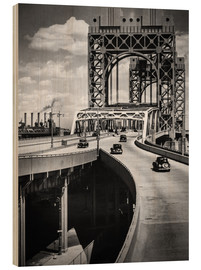 Cuadro de madera  Historic New York - Triborough Bridge, Manhattan - Christian Müringer