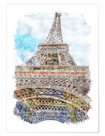 Póster Paris Eiffel Tower