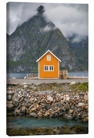 Lienzo  The yellow fisherman's house in the Lofoten - Sören Bartosch