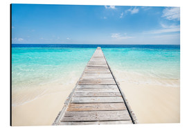 Aluminio-Dibond  Jetty on a lonely island in the Maldives - Jan Christopher Becke
