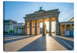 Lienzo  The Brandenburg Gate in Berlin - Jan Christopher Becke