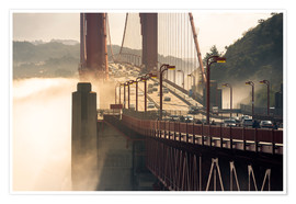 Póster San Francisco - Golden Gate Bridge in the fog
