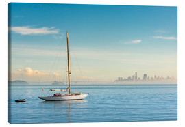 Lienzo  Sailboat in front of San Francisco, California, USA - Markus Kapferer