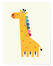 Póster  Giraffe Piano - Andy Westface